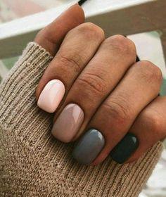 35 Υπέροχα φθινοπωρινά σχέδια για τα νύχια σου! | ediva.gr Fall Acrylic Nails, Autumn Nails, Spring Nails, Gray Nails, Neutral Nails, Black Nails, Matte Black, Gorgeous Nails, Pretty Nails