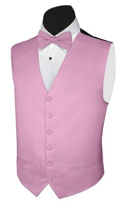 Tuxedo Vest LILAC SATIN Vest and BOWTIE Polyester Satin
