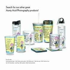 Amazon.com: Tree-Free Greetings PG02846 Aunty Acid Artful Alehouse Pint Glass, 16-Ounce, Photography: Kitchen & Dining