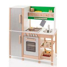 Sun 04135 Kinderküche / Spielküche natur-grün Holz mit in Spielzeug, Kleinkindspielzeug, Küchen & Zubehör | eBay