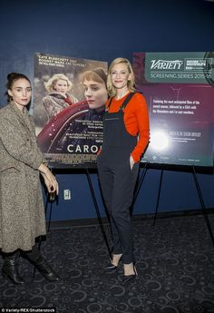 Dressed down day: Both stars opted for casual attire for the screening...