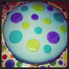 Birthday cake, polka dots.