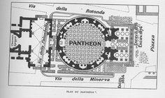 Pantheon - Rome - Plan