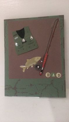 Dad Fishing Card Handmade Cards by jennrainescreations on Etsy, $2.25