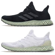 e2146db3bcc Adidas Futurecraft 4D Future Craft LA BD7701BLACK WHITE Green