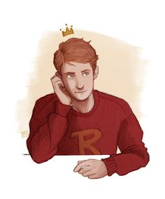 Ron Weasley art by emmilinne