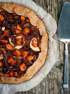 Sweet Potato, Onion & Goat Cheese Galette