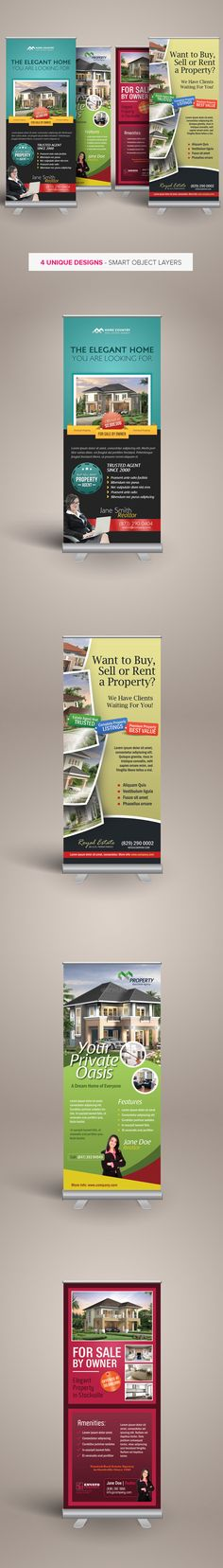 Premium Real Estate Roll-up Banners by Kinzi Wij, via Behance