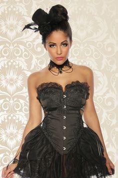 Burlesque-Kostüm schwarz-12811 - My-Kleidung Onlineshop