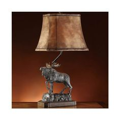Majestic Moose Table Lamp | Cabin Lodge Decor | Lighting