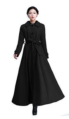 Kawen-Womens-Wool-Coats-Full-Length-Coat-Long-Jacket-Trench-Coats ...