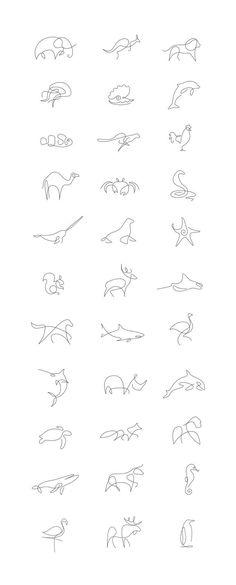 Tiny Tattoo Idea – Minimalist One Line Animals By A French Artist Duo -  - #smalltattoos