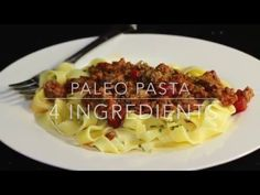 Homemade Gluten Free Pasta dough has never been easier than this two ingredient recipe. And this gluten free dough easily passes through a pasta machine for . Keto Pasta Dough Recipe, Paleo Pasta, Gluten Free Pasta, Pasta Recipes, Cooking Recipes, Homemade Meat Sauce, Homemade Pasta, Sin Gluten, Paleo Dairy