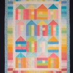 """""""Beach Hut Parade"""" quilt from Strawberry Fayre"""