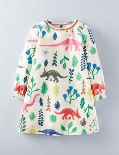 Mini Boden Smock Dress in Multi Florasaurus.