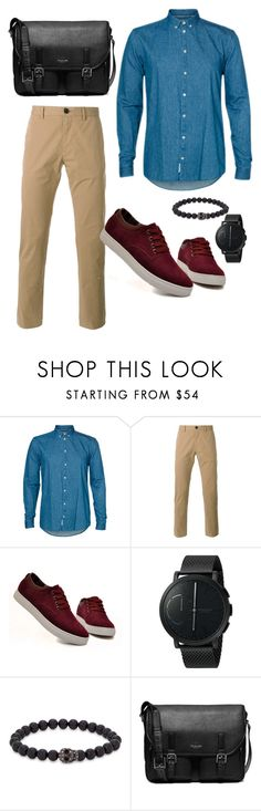 """""""Soft pop"""" by niki-row ❤ liked on Polyvore featuring Minimum, PS Paul Smith, Skagen, Simon Carter, Michael Kors, men's fashion and menswear"""