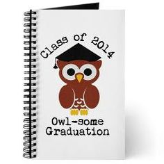 Cute Graduation Owl with mortar board Journal> Cute graduation owl with mortar board> Victory Ink Tshirts and Gifts