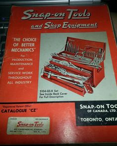 """Snap-on Tools and Shop Equipment Catalogue """"CZ"""""""