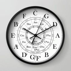 Circle Of Fifths Wall Clock Who is this wall clock for? Guitarists are those who can make merry music when they are alone and can also enthrall a crowd with the