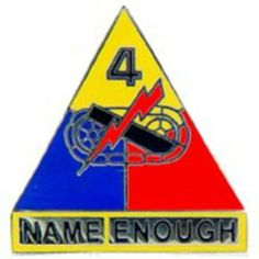 """U.S. Army 4th Armored Division Pin 1"""" by FindingKing. $8.99. This is a new U.S. Army 4th Armored Division Pin 1"""""""