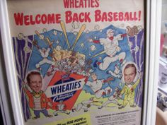 "1940's rare Bob Hope & Bing Crosby Wheaties ""Welcome Back Baseball ad TERRIFIC! Cereal Boxes, Movies Box, Bob Hope, Bing Crosby, Thanks For The Memories, Welcome, 1940s, Thankful, Ads"