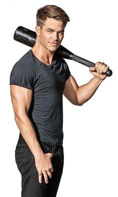 Chris Pine during Men's Health photoshoot...
