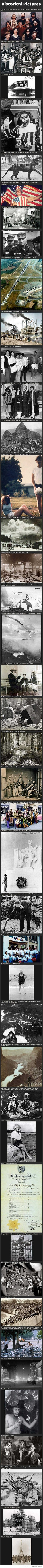 Historic photographs from around the world. They really make you think.