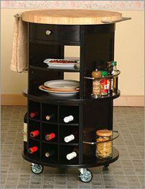 Round Kitchen Cart Butcher Block : Kitchen Cart/Microwave Cart Design Ideas Pinterest Black, Wheels and Kitchen carts