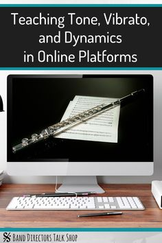 Band directors, how has online learning been going for you? In this article, you can find helpful tips on how to teach tone, vibrato, Music Lesson Plans, Music Lessons, Music Teachers, Music Education, Elementary Music, Upper Elementary, Band Director, Music Worksheets, Band Pictures