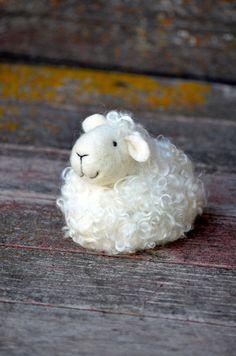Sheep -  wool needle felted lamb - needle felted animals