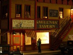 Greetings at Saulena's Tavern. Photo & model by Greg Shinnie