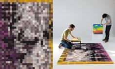 Pixel Carpet: i love how pixilation is already retro! and I think it will prove to be timeless… Pixel Carpet: … Futuristic Design, Cool Rugs, Patterned Carpet, Retro Aesthetic, Rugs On Carpet, Carpets, Red Carpet, Carpet Runner, Color Mixing
