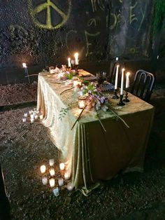 Sweetheart table set in abandoned train tunnel. Lake of the Ozarks    Missouri Train Tunnel, Abandoned Train, Head Tables, Sweetheart Table, Missouri, Wedding Events, Table Settings, Table Decorations, Home Decor