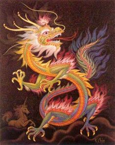 chinese-dragon-mosaic by k.The Chinese dragon is a symbol of wisdom, power, and luck in Chinese culture. Unlike western dragons, oriental dragons are usually seen as benevolent and kind. Dragons have long been a symbol in Chinese folklore and art. Year Of The Dragon, Enter The Dragon, Dragon Images, Dragon Pictures, Mythological Creatures, Mythical Creatures, Dragon Oriental, Dragon Mythology, Arrow Tattoo