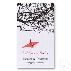 45 best asian zen business cards images on pinterest name cards origami japanese red paper cranes silhouette tree business card colourmoves