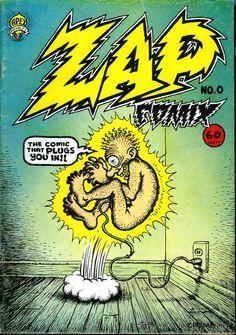 Zap Comix Cover Art by Robert Crumb Robert Crumb, Underground Comics, Comic Book Covers, Comic Books Art, Book Art, Zap Comics, Desenho New School, Fritz The Cat, Chef D Oeuvre