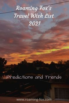Roaming Fox's Travel Wish List, predictions and trends 2021 #travel #wishlist #predictions #trends #traveltrends #travelpredictions Travel Goals, Travel Tips, Travel Ideas, Beaufort West, Wetland Park, Amazing Destinations, Travel Around The World, Where To Go, Day Trips