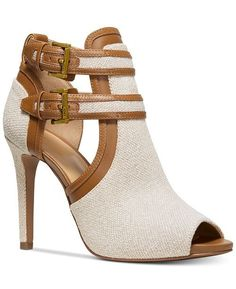 Michael Kors Blaze Peep-Toe Dress Booties & Recensies - Boots & Booties - Schoenen - Macy's - picture for you Cute Shoes, Women's Shoes, Me Too Shoes, Flat Shoes, Shoes Sneakers, Shoes Jordans, Gucci Shoes, Shoes Style, Casual Shoes