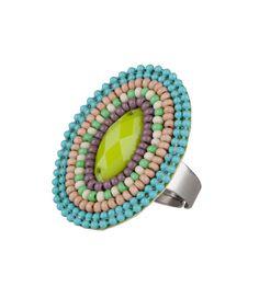 Ring Beads Oval capri Barrucci | The Little Green Bag