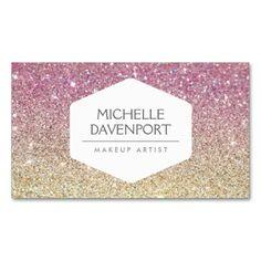 1210 best glitter sparkle business cards images on pinterest elegant white emblem on pink ombre glitter business card colourmoves