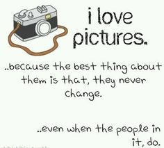 I love pictures because...