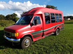 Ford E-350 Turtle Top 14 Passenger Shuttle Bus Transport Church Diesel Dually. Used Buses for Sale at link. School, Passenger, Greyhound and VW, Volkswagen Buses for Sale.  Flower Power.  Bus conversion or converted, buses turned into homes & Campers. #vwbug, #vwcamper, #volkswagen, #bus