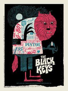 the black keys: tour poster 11