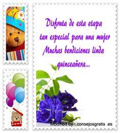 imàgenes con frases para quinceañera para facebook,descargar textos bonitos para quinceañera para Whatsappk: http://www.consejosgratis.es/frases-cortas-para-quinceaneras/