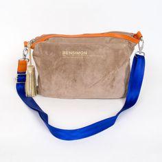 Sac Bensimon Mat & shiny line- Mini bag beige