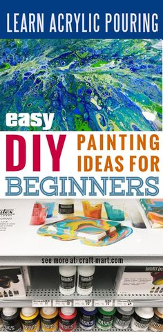 Learn acrylic pour painting techniques for your prettiest DIY wall art ever! - Craft-Mart - - Acrylic pouring - Amazingly easy and super fun technique for creating the best DIY wall art on canvas! Learn the best techniques to get terrific results! Pour Painting Techniques, Acrylic Pouring Techniques, Acrylic Pouring Art, Art Techniques, Metal Tree Wall Art, Diy Wall Art, Metal Art, Diy Art, Diy Painting