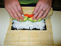 Have a Homemade Sushi night! Step by step pictures to make Shrimp Tempura, California Roll, and Spicy Tuna roll! Easier than you think.