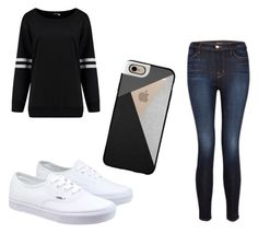 """Damn Daniel"" by ashtian22 ❤ liked on Polyvore featuring Vans, J Brand, Casetify, women's clothing, women, female, woman, misses and juniors"