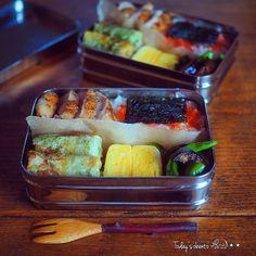 朝楽チンお弁当の詰め方☝︎|LIMIA (リミア) Asian Recipes, Ethnic Recipes, Bento Box Lunch, Tuna, Fish, Cooking, Baking Center, Asian Food Recipes, Kochen