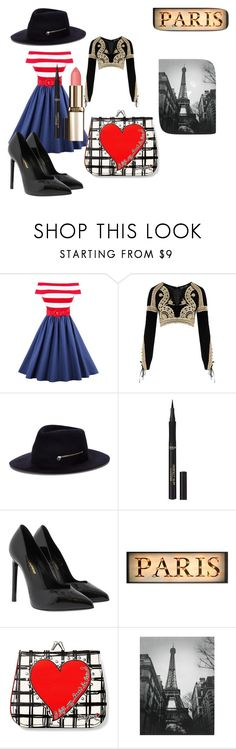 """A day in Paris!!!"" by sbrewed ❤ liked on Polyvore featuring For Love & Lemons, Larose, L'Oréal Paris, Yves Saint Laurent and Brighton"